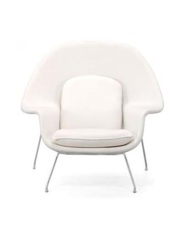 Silla ocasional con reposapies marca Zuo modelo Nursery - blanco / 501154 - Envío Gratuito