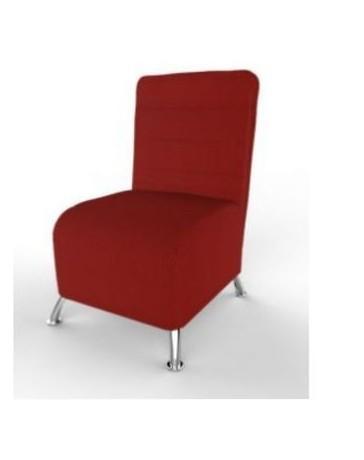 Turin Desales sillon Turin tapizado en Vinipiel-Rojo - Envío Gratuito