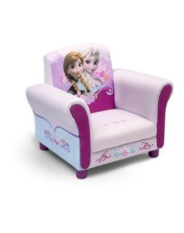 Sillon silla niña tapizada de Anna y Elsa Frozen Delta Childrens - Envío Gratuito