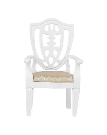 Generic Casa De Muñecas En Miniatura De La Decoración De Madera Juguete De Los Muebles Sillón Modelo Blanco - Envío Gratuito