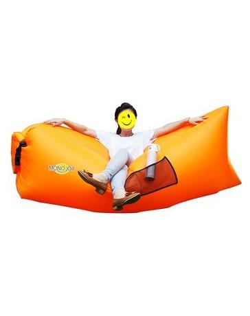 Sofá Cama Colchón Sillón Hinchable Inflable Al Aire Libre Camping Playa-Naranja - Envío Gratuito