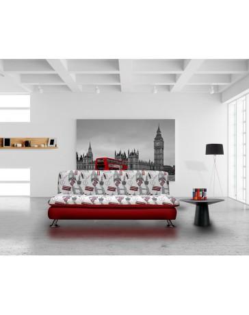 Sofa Cama Big Ben Persia Artaban Rojo - Envío Gratuito