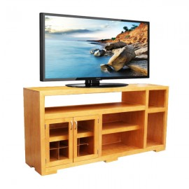 Mesa para TV Bicolor-Cerezo Americano - Envío Gratuito