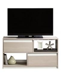 Mueble De TV Y Multimedia CREA Muebles PSQ1ar Moderno-Café Arena,Blanco - Envío Gratuito
