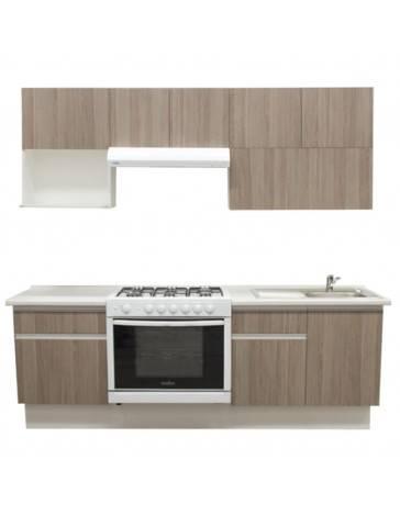 Cocina Integral Cendra 2.42M. Estufa Izquierda, Tarja Derecha - Envío Gratuito