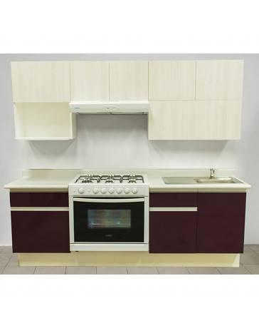 Cocina Integral Rouge 2.42M. Estufa Izquierda, Tarja Derecha - Envío Gratuito